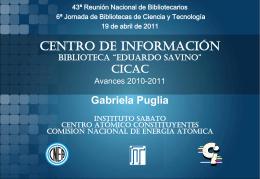 Gabriela Puglia(Centro de Información CAC