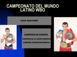 campeonato del mundo latino wbo