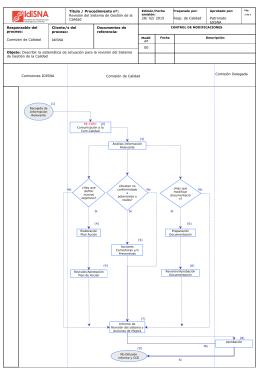 Anexo 3: Revisión del Sistema Gestión de Calidad