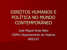 direitos humanos e política no mundo contemporâneo