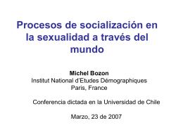 Socialización en la sexualidad en el mundo