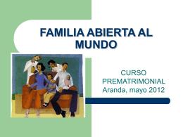 FAMILIA ABIERTA AL MUNDO