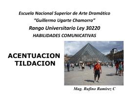 Tildación en mayúsculas - Educación, Arte, y Turismo