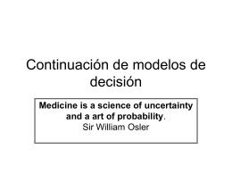 Continuación de modelos de decisión