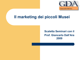 Il Marketing dei Piccoli Musei ()