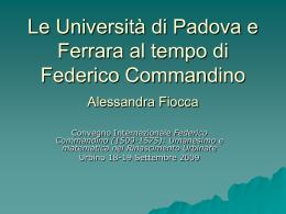 PowerPoint - Centro Internazionale di Studi Urbino e la Prospettiva