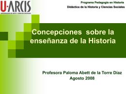 Concepciones sobre la enseñanza de la Historia