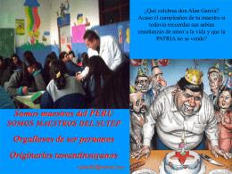 Somos maestros del PERU SOMOS MAESTROS DEL SUTEP
