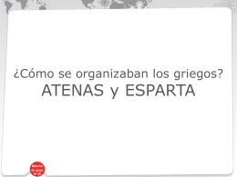 Atenas y Esparta - Colegio Monte de Asís