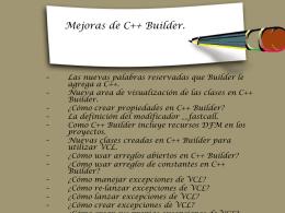 Mejoras de C++ Builder.