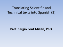 Clase 16. TRANSLATING SCIENTIFICAL & TECHNICAL TEXTS