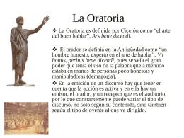 Oratoria - PPA-UPC-FA3