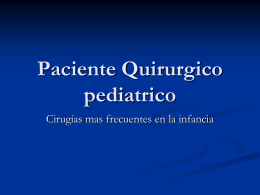 cirugias pediatricas