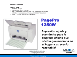 PagePro 1250 Series