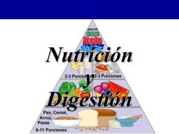Nutrición y Digestión