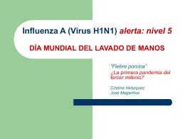 Influenza A (Virus H1N1) alerta