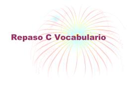 C Vocabulario