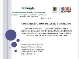 Conversatorio 21 de Mayo del 2013