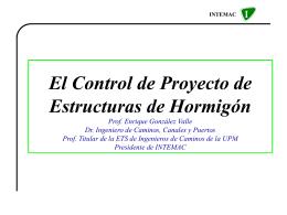 Control de Proyecto de E. de Hormigón