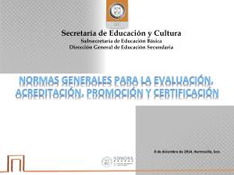 3.- acuerdo 696 ppt - Secretaría de Educación y Cultura