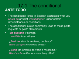 17.1 The conditional