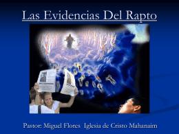 20-Las Evidencias Del Rapto - Iglesia de Cristo Mahanaim