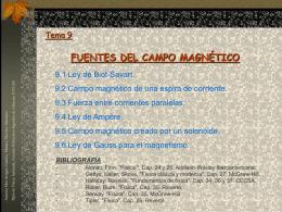 Campo magnetico - diferentes configuraciones-