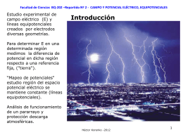 CAMPO Y POTENCIAL ELÉCTRICO, EQUIPOTENCIALES