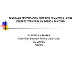 EL CAMPO DE LA INVESTIGACIÓN EDUCATIVA EN - iec