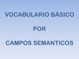 Vocabulario campos semánticos