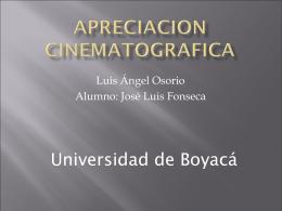 APRECIACION CINEMATOGRAFICA jose