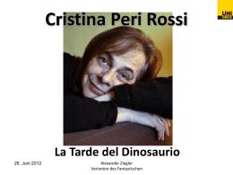 Cristina Peri Rossi La Tarde del Dinosaurio