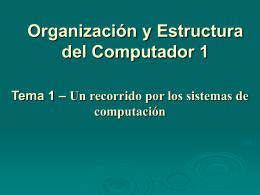 Tema 1. Un Recorrido por los Sistemas de Computación