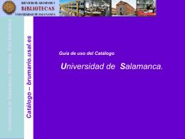Catálogo - Universidad de Salamanca
