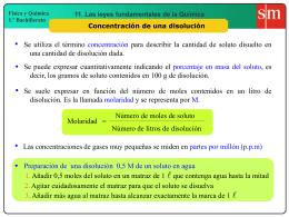 9. Molaridad = C molar