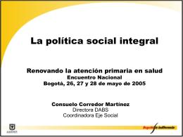La política social integral