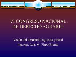 """Firpo Brenta, Luis M.: """"Visión del desarrollo agrícola y rural"""""""
