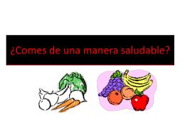 comes de una manera saludable