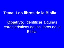 la biblia - Bitacoradereligion