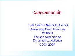 Comunicación - Universidad Politécnica de Valencia