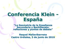 Conferencia Klein - España