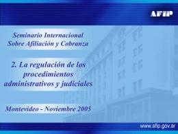 Sistemas de recaudación y fiscalización. 2