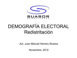 DEMOGRAFÍA ELECTORAL