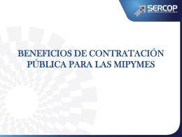 la contratación pública impulsando el desarrollo de las mipymes