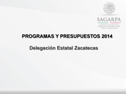 PROGAN Productivo 2014 - Zacatecas Transparencia