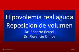 HOMEOSTASIS DE VOLUMEN EN EL PERIOPERATORIO