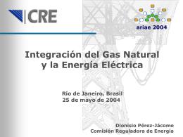 8 Integración entre Gas Natural y Electricidad en México