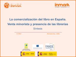 La comercialización del Libro en España (septiembre 2008)