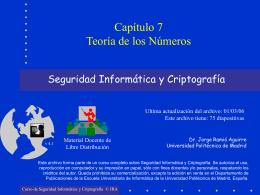 Capítulo 07: Teoría de los Números