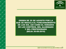 presente Orden - CEP de Alcalá de Guadaíra